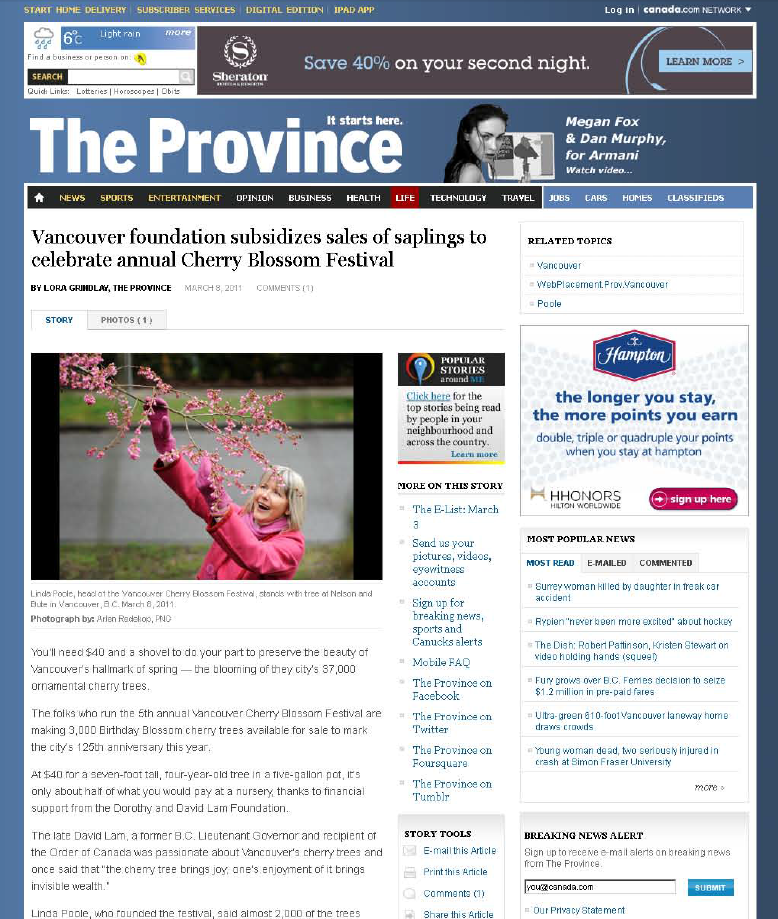 The Province – March 8, 2011