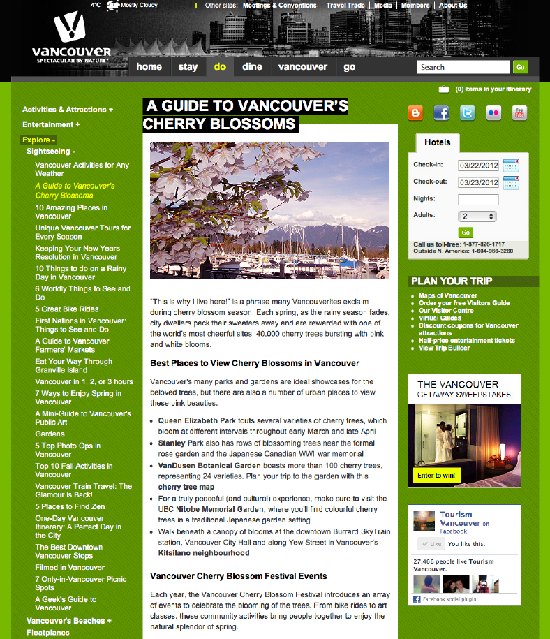 Tourism Vancouver – March 13