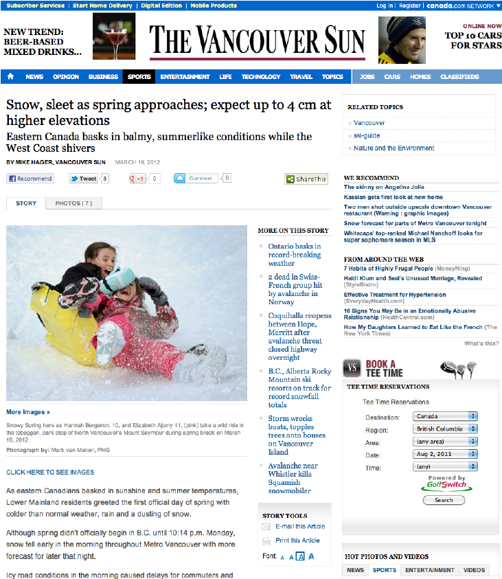 Vancouver Sun – March 19