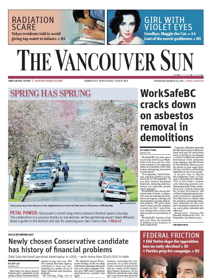 The Vancouver Sun – March 24, 2011