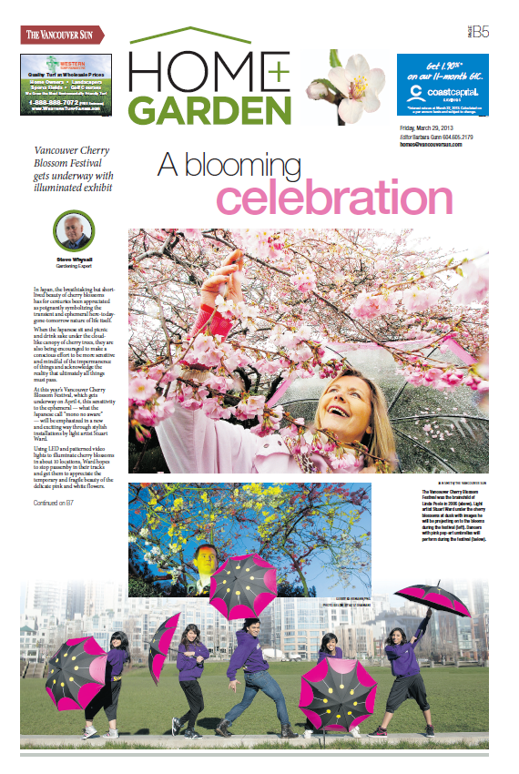 Print – The Vancouver Sun B5 – March 29, 2013