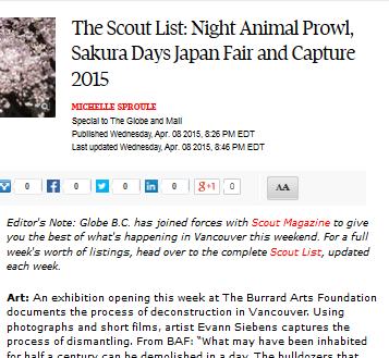 The Globe and Mail April 8, 2015