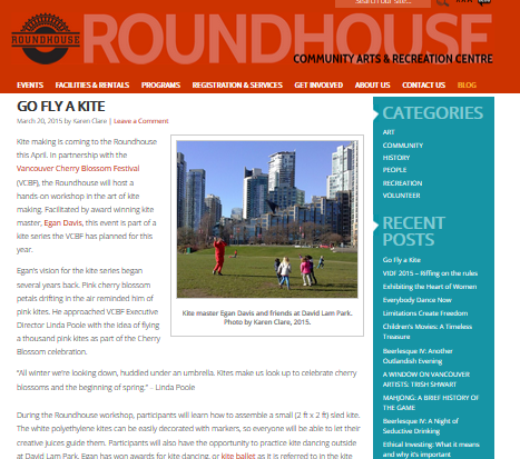 Roundhouse Blog March 20, 2015