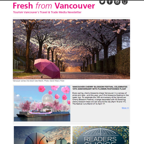 Tourism Vancouver - February 1, 2016